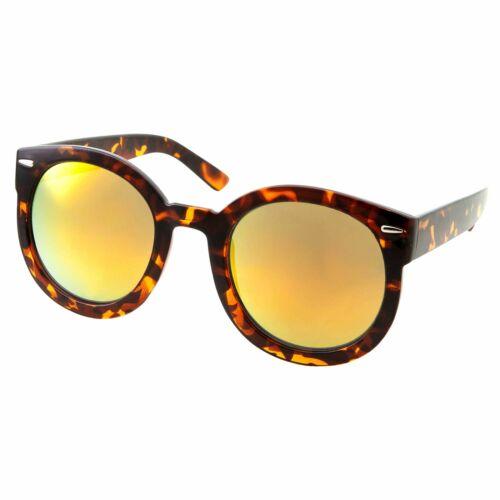 Designer Mirrored Sunglasses for Women Retro Outdoor Beach Wear Tortoise Mirror