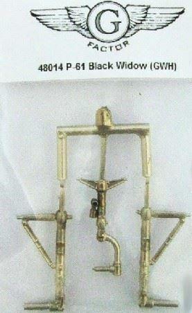 G-FACTOR MODELS 1//48 P61 BLACK WIDOW WHITE BRONZE LANDING GEAR FOR LNR48014