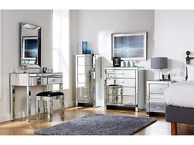 Venetian Glass Bedroom Furniture Range, Venetian Mirrored Bedroom Furniture Uk