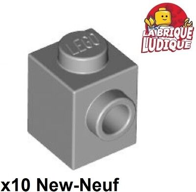 Light Grey pack of 10 Lego 87087-1x1 modified brick studs on 1 side NEW