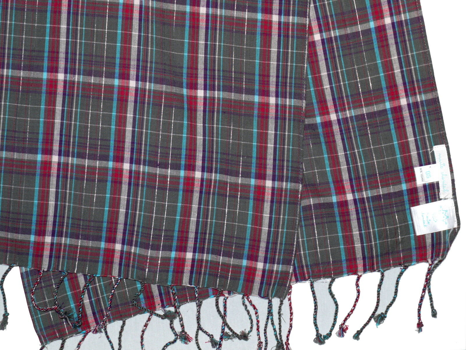 "Marie Chantal Girls 100/% Cotton Check Scarf 15/"" x 40/"" NEW"