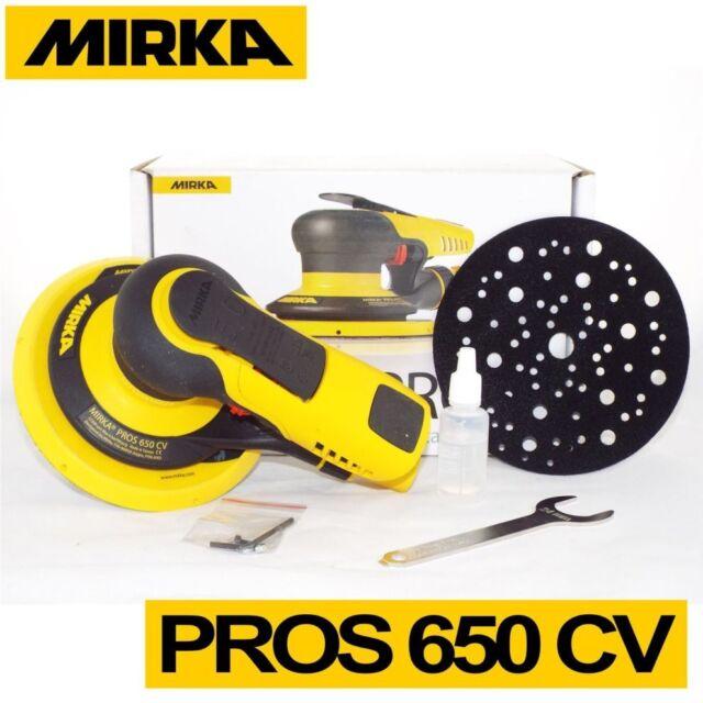 Mirka PROS 650CV 150mm Central Vacuum 5.0mm Air Powered Random Orbital Sander