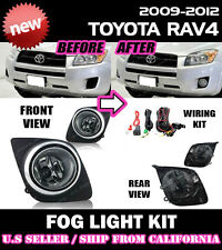 09 10 11 12 TOYOTA RAV4 Fog Light Driving Lamp Kit w/ switch wiring (CLEAR)