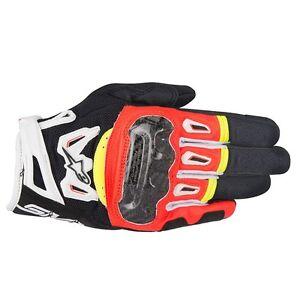 10% Off ALPINESTARS SMX2 v2 AIR Carbon Black/White/Ye<wbr/>llow/Red Motorbike Gloves