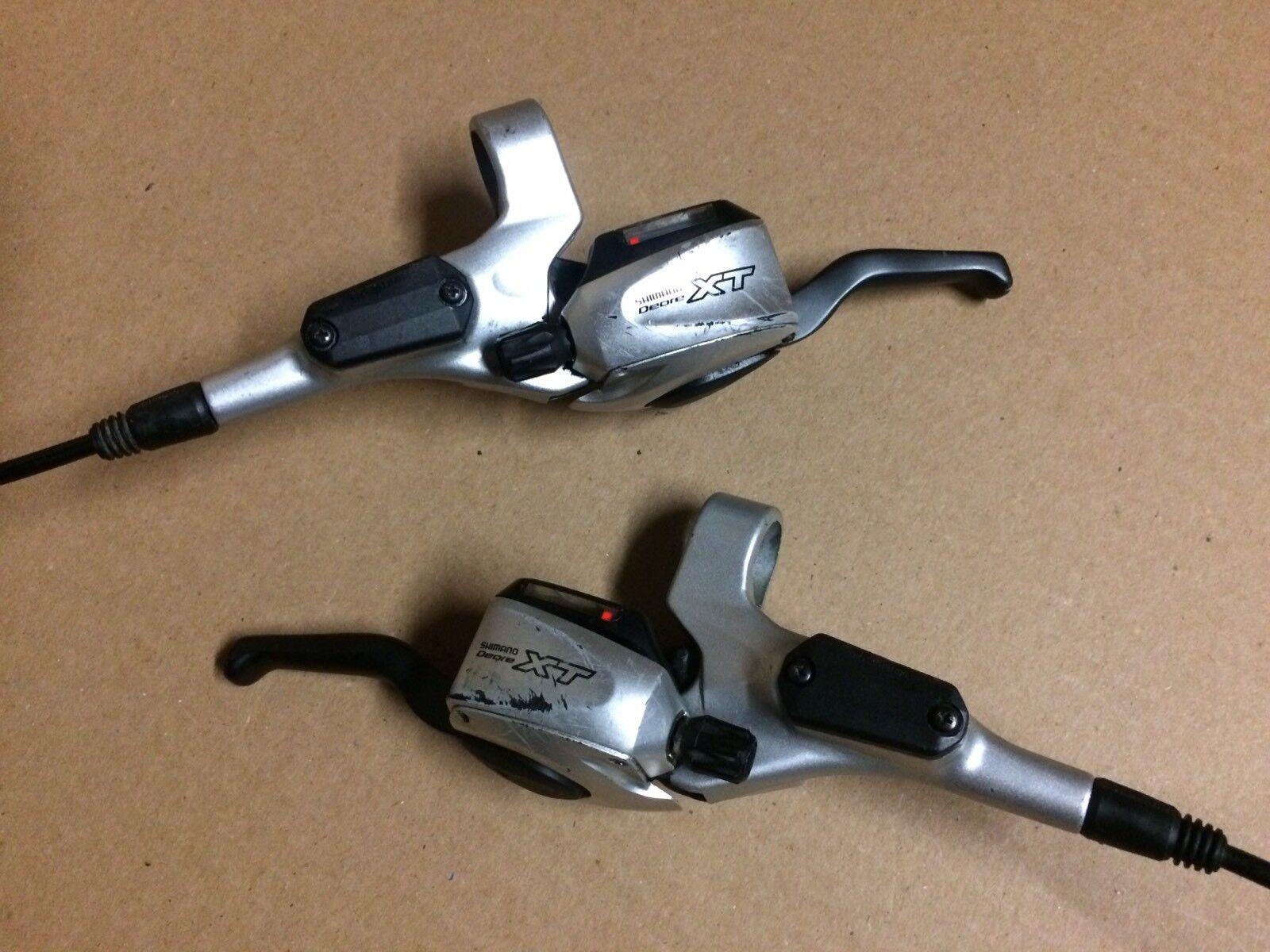 Shimano Deore XT ST-M765 Dual Control Hydraulic Disc Brake Set & Shifters, 3x9