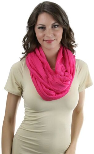 ToBeInStyle Women/'s Solid Jersey Infinity Scarf