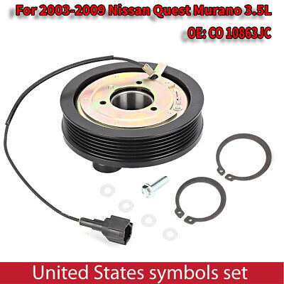 Fits 2003-2009 Nissan Quest Murano AC A//C Compressor Clutch Repair Kit