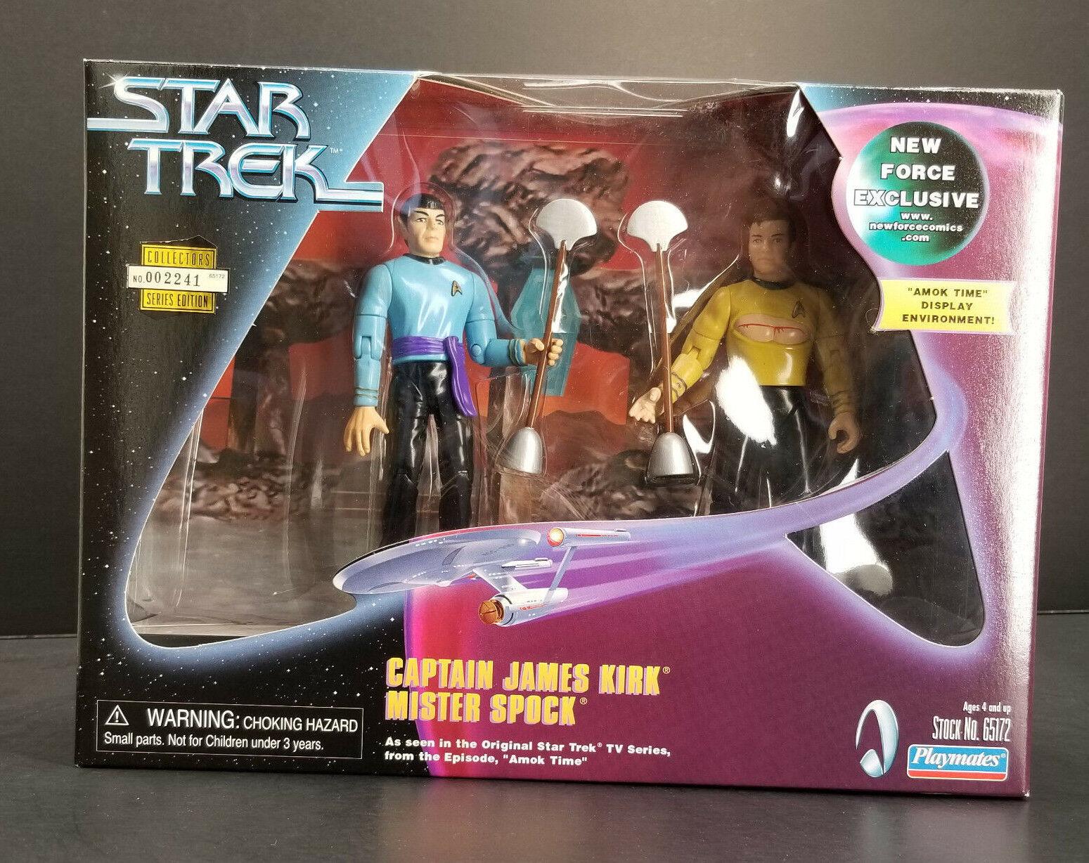 Amok Zeit Kirk & Spock Star Trek 2-pack Spielkameraden Tos Neu Force Exclusive