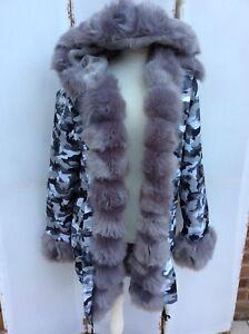 Manteau en Parka Manteau gris camouflage camouflage Parka en gris Manteau HxZn5q5RE