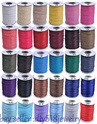 1mm  10 meters Korea Wax Corduroy Cord Thread Diy Jewelry Bracelet Necklace 4005