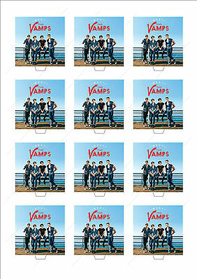 THE VAMPS Cup Cake Edible Scene Toppers Birthday Party STAND UP