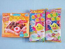 3 PCS SET Kracie Popin Cookin Japanese Candy Making Kit Doughnut Nerunerunerune