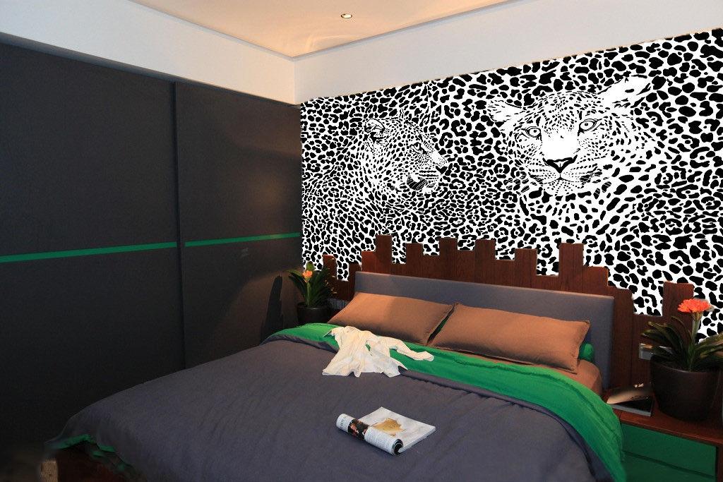 3D Leopards Style 7  Wall Paper Murals Wall Print Wall Wallpaper Mural AU Lemon