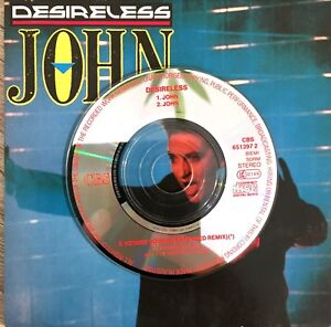 CD-MINI-SINGLE-3-INCH-DESIRELESS-JOHN-CARDBOARD-SLEEVE-COLLECTOR-TRES-RARE-1988