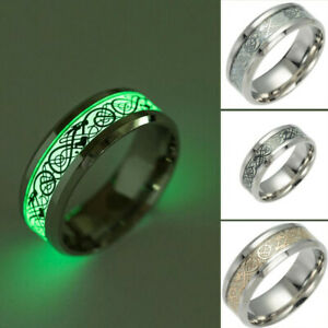 Vintage-Stainless-Steel-Men-s-New-Glow-in-The-Dark-Dragon-Ring-Jewelry