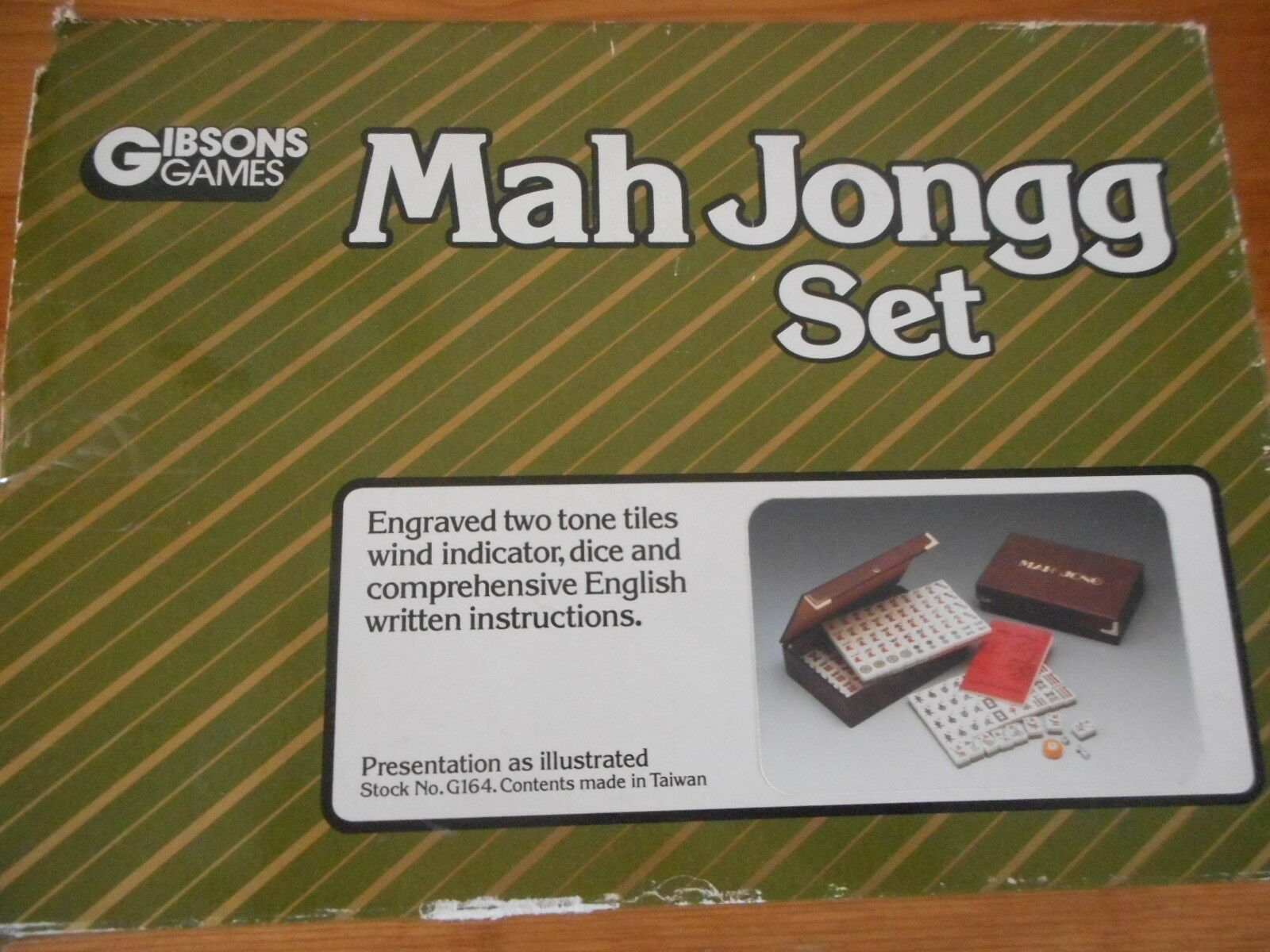 Vintage Mah Jongg Set by Gibsons Game Sealed Contents with Instructions