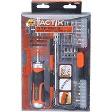 Tactix Screwdriver Ratchet Bit Bits Driver Set 43 Piece Heavy Duty Comfort Grip
