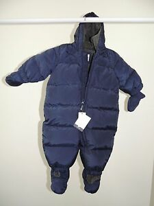 acdd23019 NWT Baby Boys 0-6 Months    BABY GAP    Navy Blue Down Fill Snowsuit ...