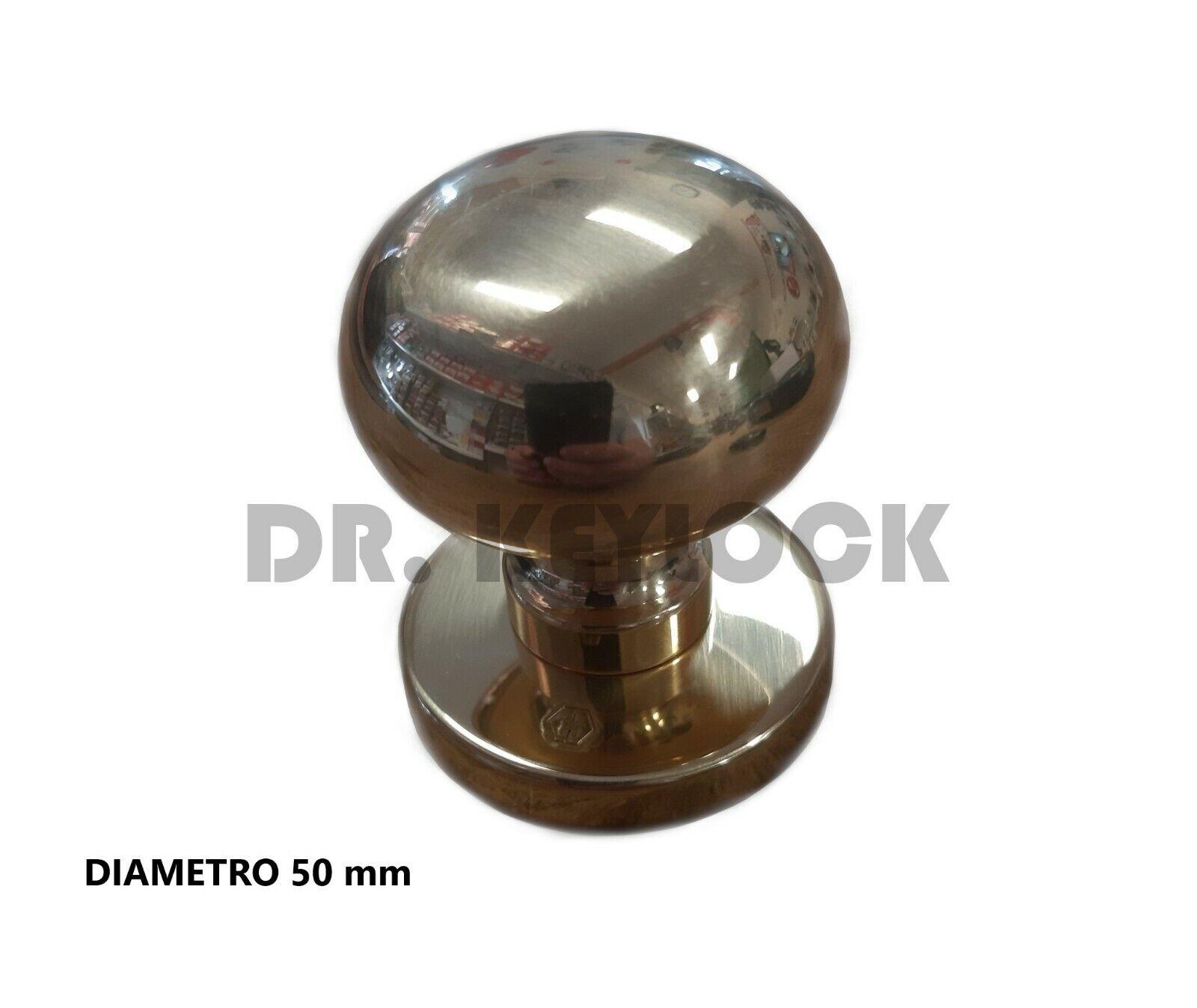 Pomello pomolo x mobili armadi cassetti misura ø 50mm in metallo latta verniciat
