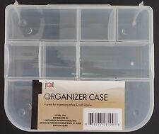 """Jot SMALL CLEAR PLASTIC LOCK-TOP ORGANIZER CASES 9 Sections 7.5""""x6.5""""x1.75"""""""