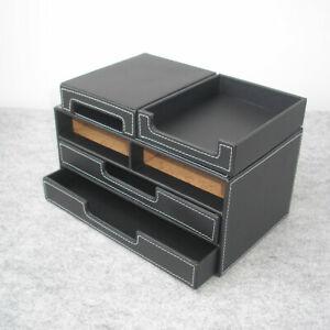 Luxury-Leather-Makeup-Storage-Box-Phone-Holder-Office-Home-Desktop-Organizer