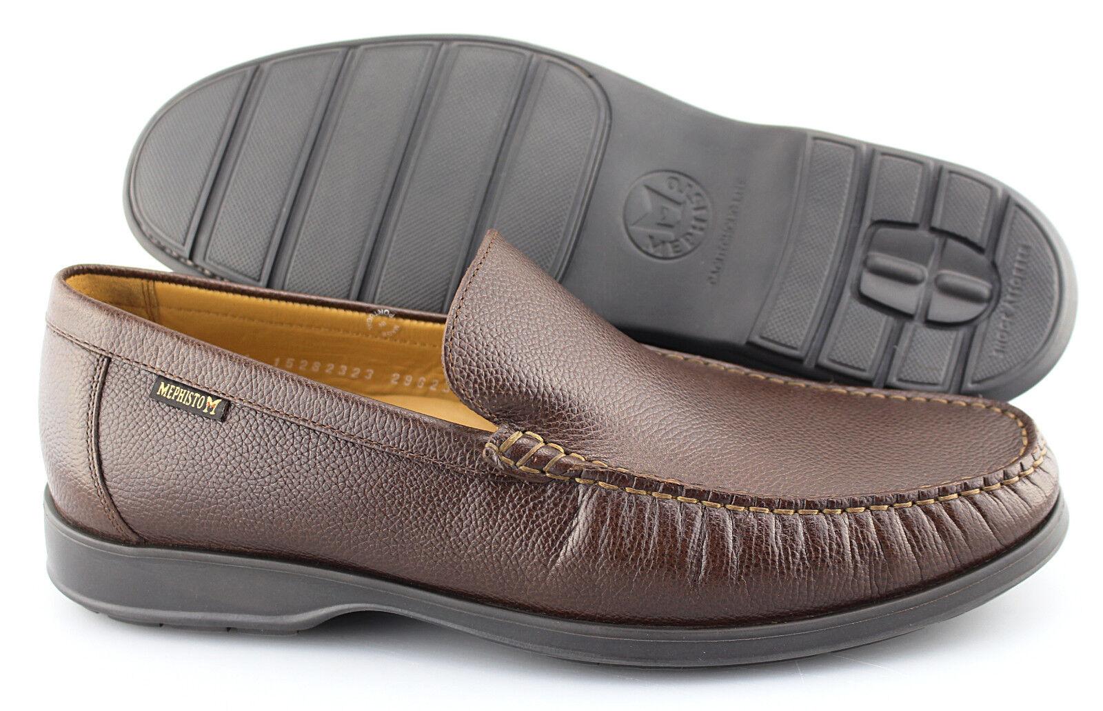 Men's MEPHISTO 'Henri' Chestnut Brown Leather Loafers Size US 9.5 EUR 9