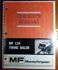 Massey Ferguson Business, Office & Industrial Mf1440 Round Baler Operators Mannual