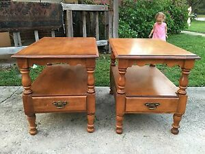 Tell city young republic line hard rock maple end tables ebay