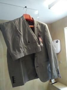 piᄄᄄces38r32ren Slim Suit 3 Harry Fit Gris Brown lKT3F1Jc