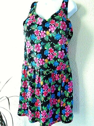 Swimsuits For All Swimdress Top Women's Floral Plu