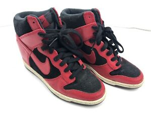 Nike Dunk Sky Hi White Wedge 528899-016 Size 6.5 Women s Red and ... c1f9c4318b