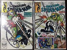 Amazing Spider-Man #298 and 299 - 1st and 2nd McFarlane, Venom & Brock - (1988)