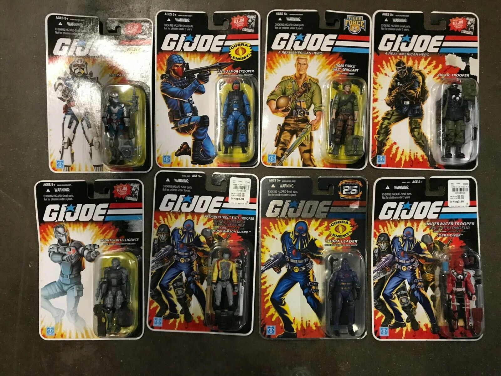 GI Joe Action Figures Variety Lot of 8 New In Packaging Excellent Condition NOS