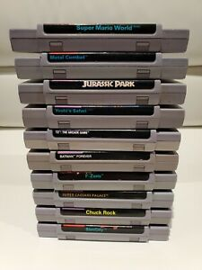 Lot-of-10-Super-Nintendo-SNES-Games-Mario-World-Yoshi-Terminator-Batman