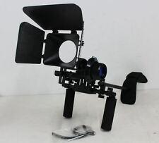 NUOVO CON SCATOLA DSLR Steadicam Spalla Rig Follow Focus Matte Box Videocamera Stabilizzatore