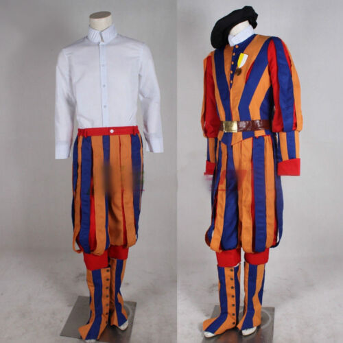Switzerland Soldiers Cosplay Costume Papal Swiss Guard Uniform Carnival costume