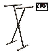 NJS Heavy Duty Folding X Frame Keyboard Stand Locking Mechanism 5 Heights Black