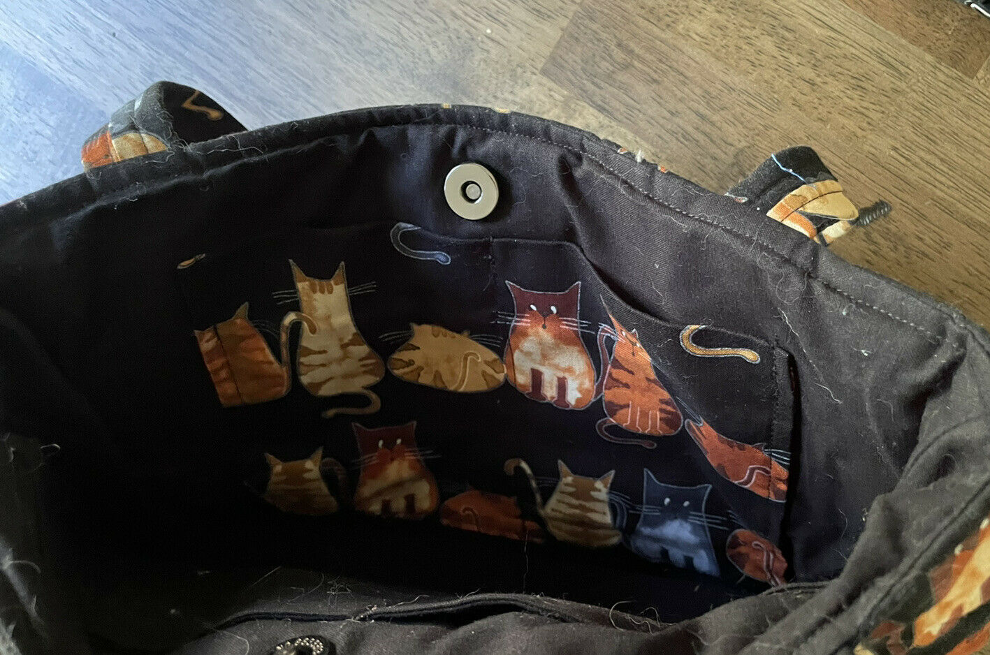 Kitten Cat Quilted Tote Purse Bag - image 3