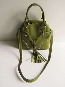 Image Is Loading Buti Italy Gorgeous New 565 Avocado Pebbled Leather