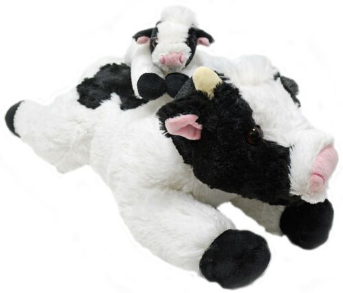 Cow and Baby Calf Set Super Soft Plush Animal Stuffed Animals Toy Gifts