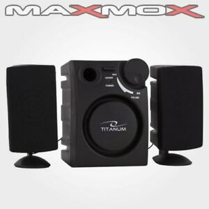 pc lautsprecher subwoofer 2 1 aktiv soundsystem speaker laptop notebook tv boxen ebay. Black Bedroom Furniture Sets. Home Design Ideas