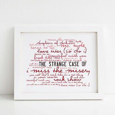 Album Lyrics Print The Strange Case Of Halestorm Poster Framed Original Art