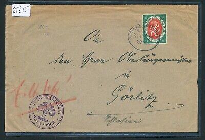 Gut Ausgebildete 35215) Bahnpost Ovalstempel Ahrensböck - Gleschendorf Zug 115, Brief 1919 Um Jeden Preis