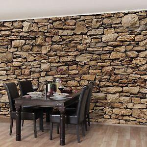 Das Bild Wird Geladen Vlies Tapete Foto Tapeten Wohnzimmer  Kueche Steintapete Steinwand