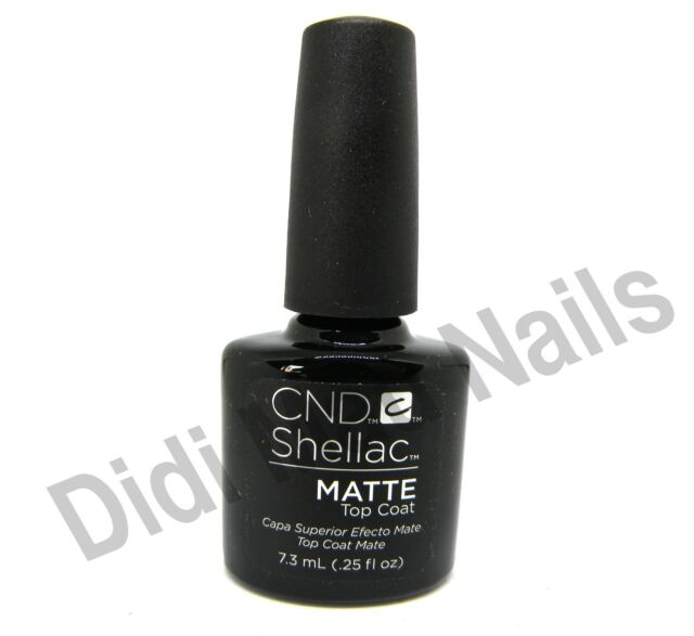 Cnd Creative Nail Design Shellac Matte Top Coat Ebay