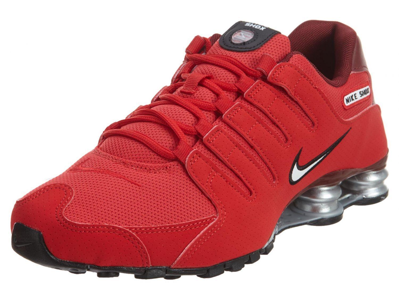 Mens Nike Shox NZ Sneakers New, University Red 378341-601 SKU AA