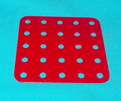 meccano 1 plaque rectangulaire No72 rouge