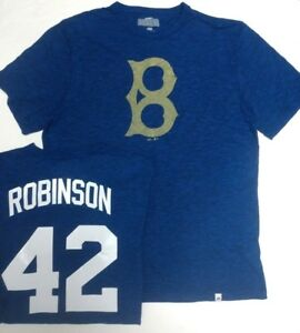premium selection 41a12 6549b Details about JACKIE ROBINSON BROOKLYN DODGERS COOPERSTOWN SHIRT MAJESTIC  NEW PICK SIZE