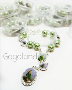12-San-Judas-Tadeo-Bracelet-Green-Beads-Proteccion