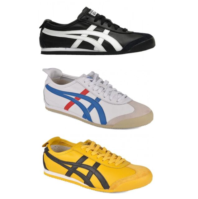 Onitsuka Tiger Vintage Mexico 66 Leather Lace up Casual Womens Trainers